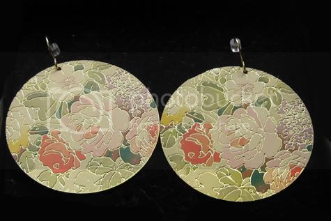 floral disk earrings