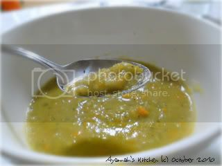 Split Pea Soup on Spoon