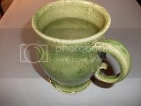 Inspired By Green :: Green Tea Mug :: Green Pottery