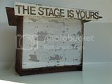 Model for &quot;The stage is yours&quot;, 2009,  steel, concrete block, paint.