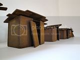 Maquettes for &quot;Skid Row&quot; , steel, 2011.