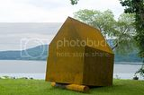 &quot;Time Sharing&quot; 2009.Corten steel. Permanent installation Hudson waterfront, Peekskill, New York.
