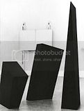 Sculpture with blackboard, 1982.